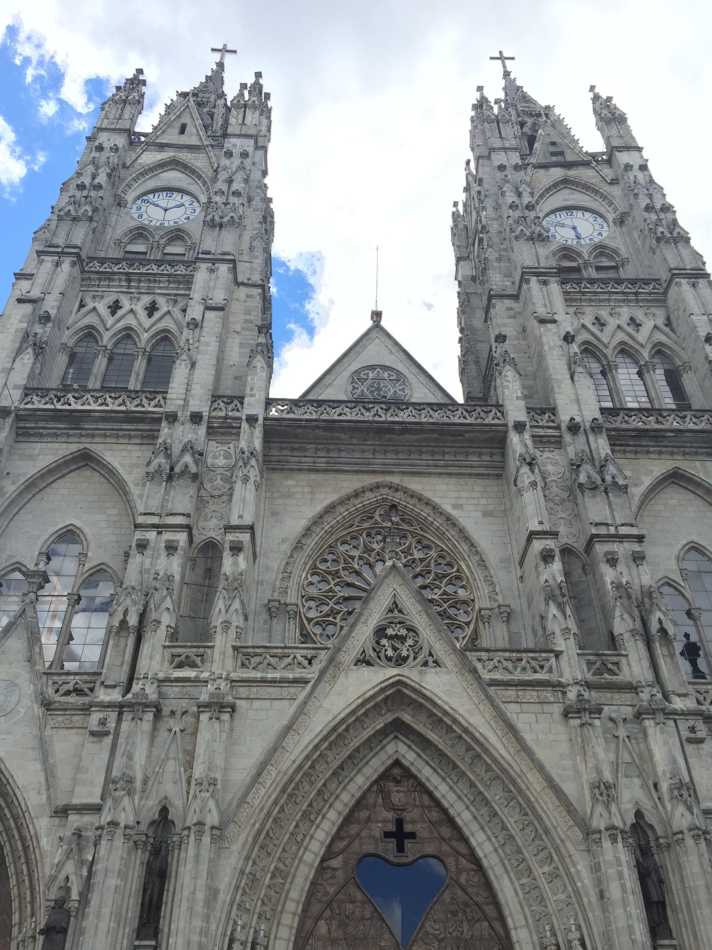 Free stock photo of big church, cathedral, church, clock