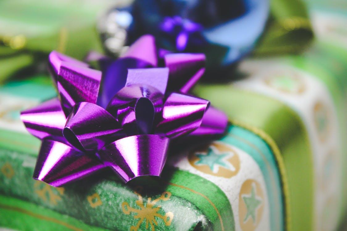 Close-Up Photo of Purple Ribbon