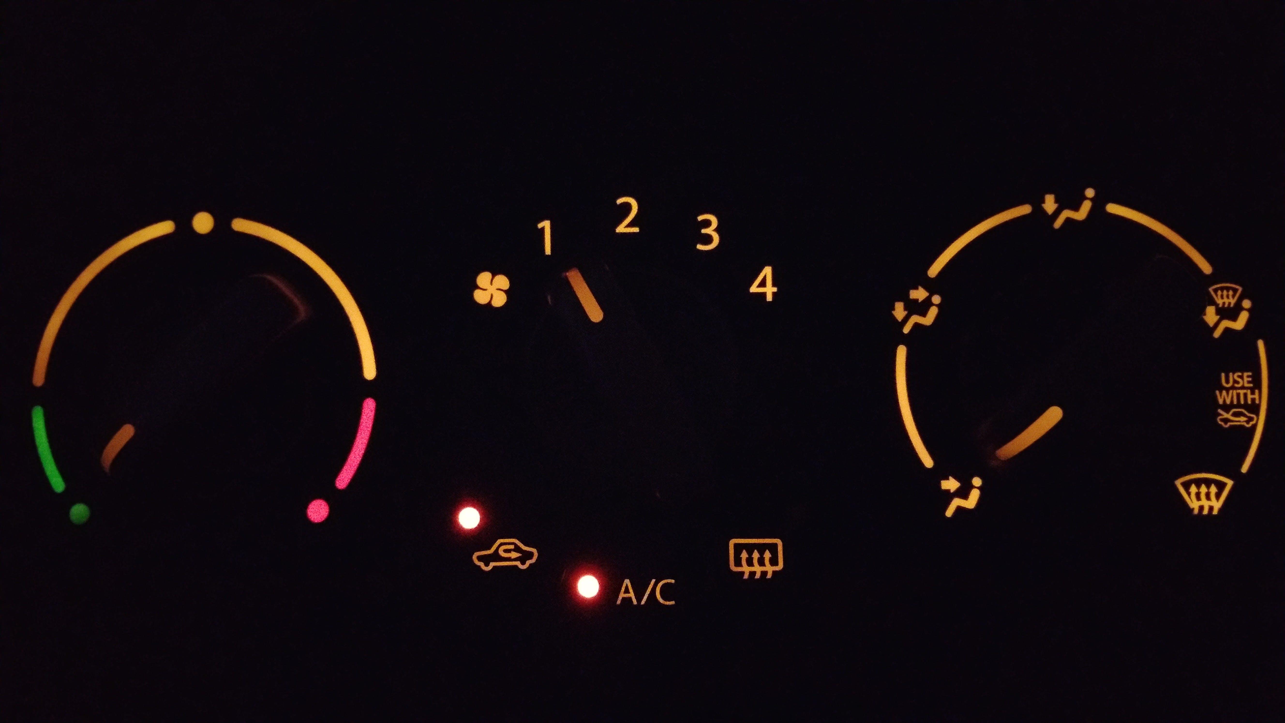 Free stock photo of black, car, dashboard, glow