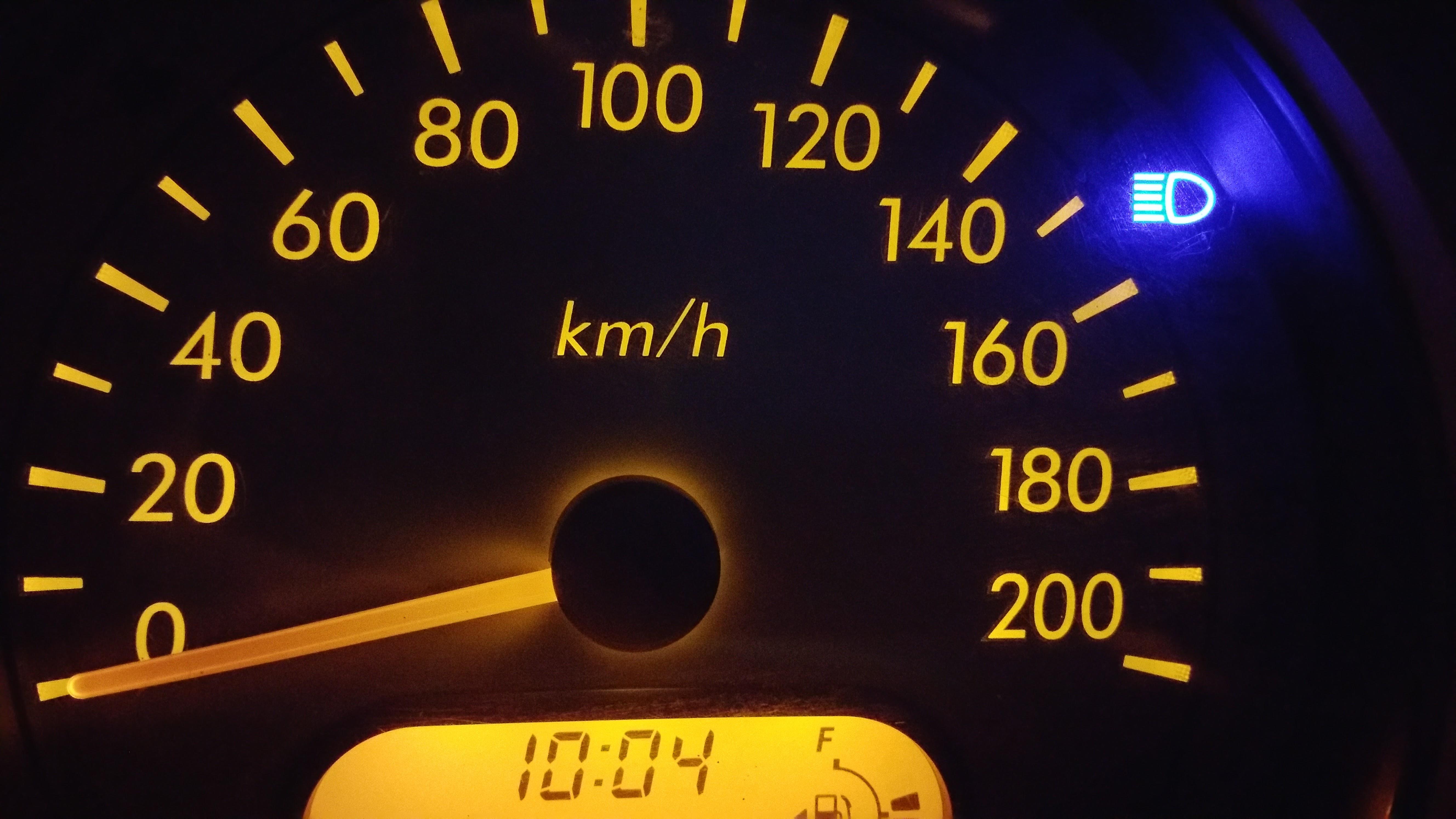 Analog Speedometer at 0