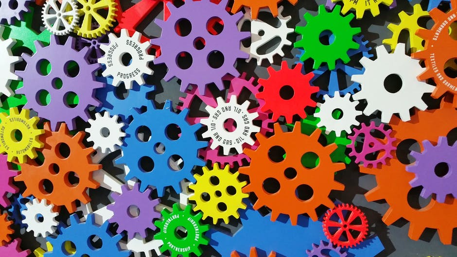 Colorful Toothed Wheels