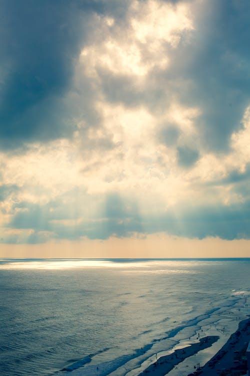 ciel nuageux, ciel spectaculaire, côte