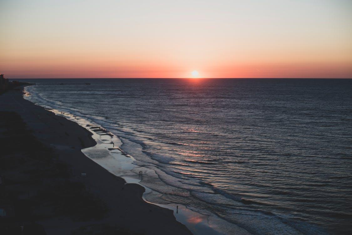 horison, horizon, pantai