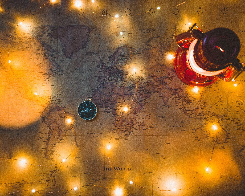 Free stock photo of christmas, world map