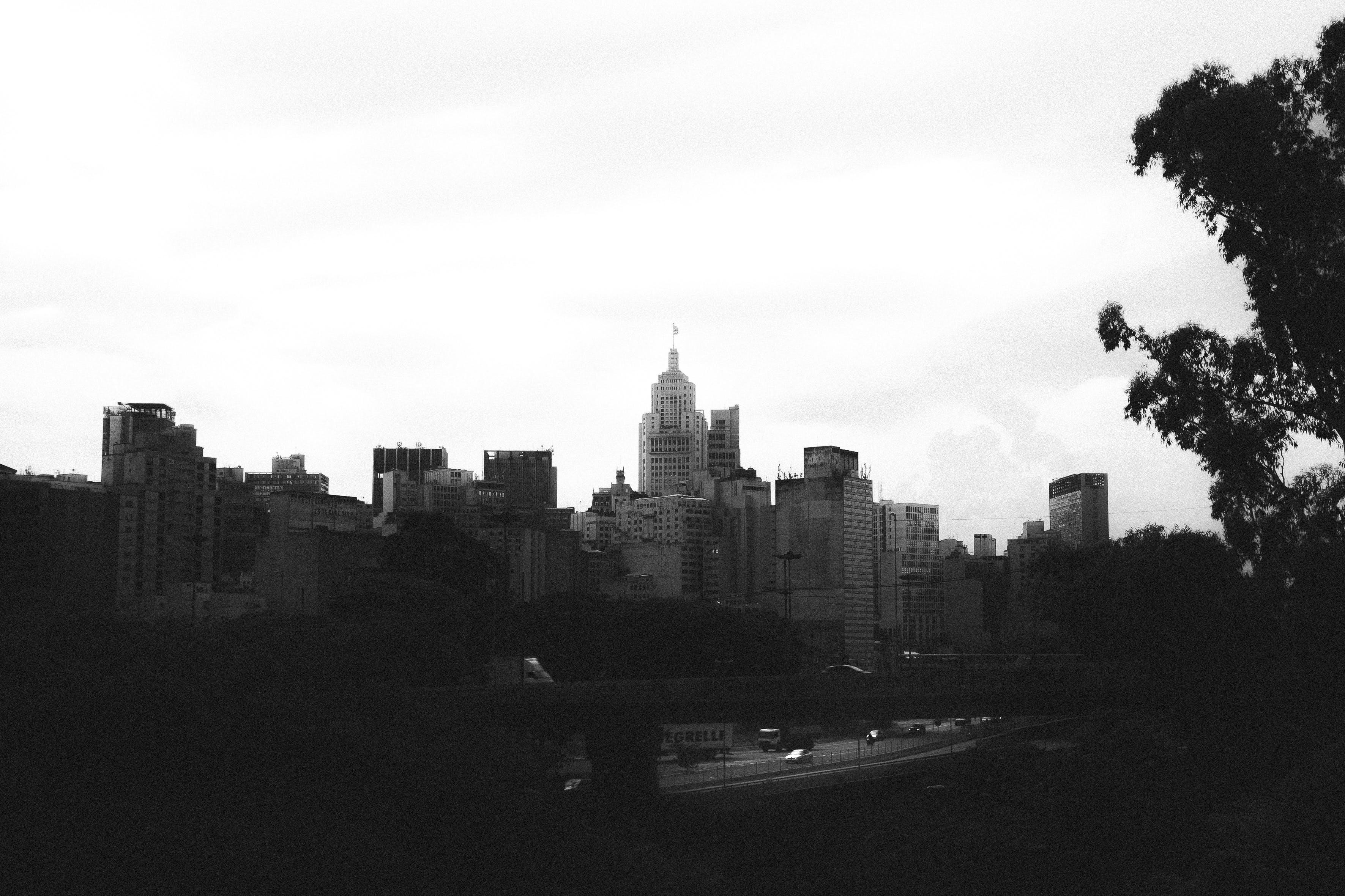 Free stock photo of black and white, city, sao paulo, skyline