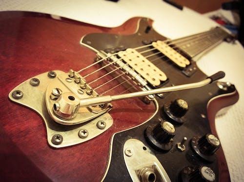Gratis lagerfoto af årgang, elektrisk, guitar, musik