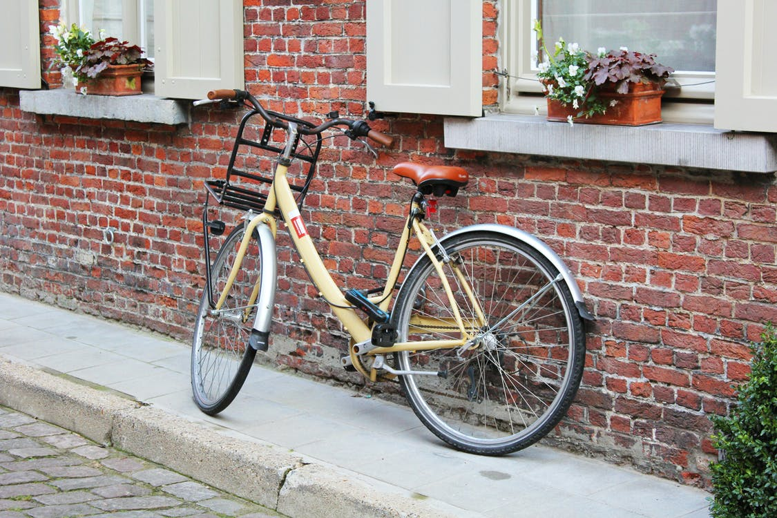 Amsterdam, bakstenen, bloemen