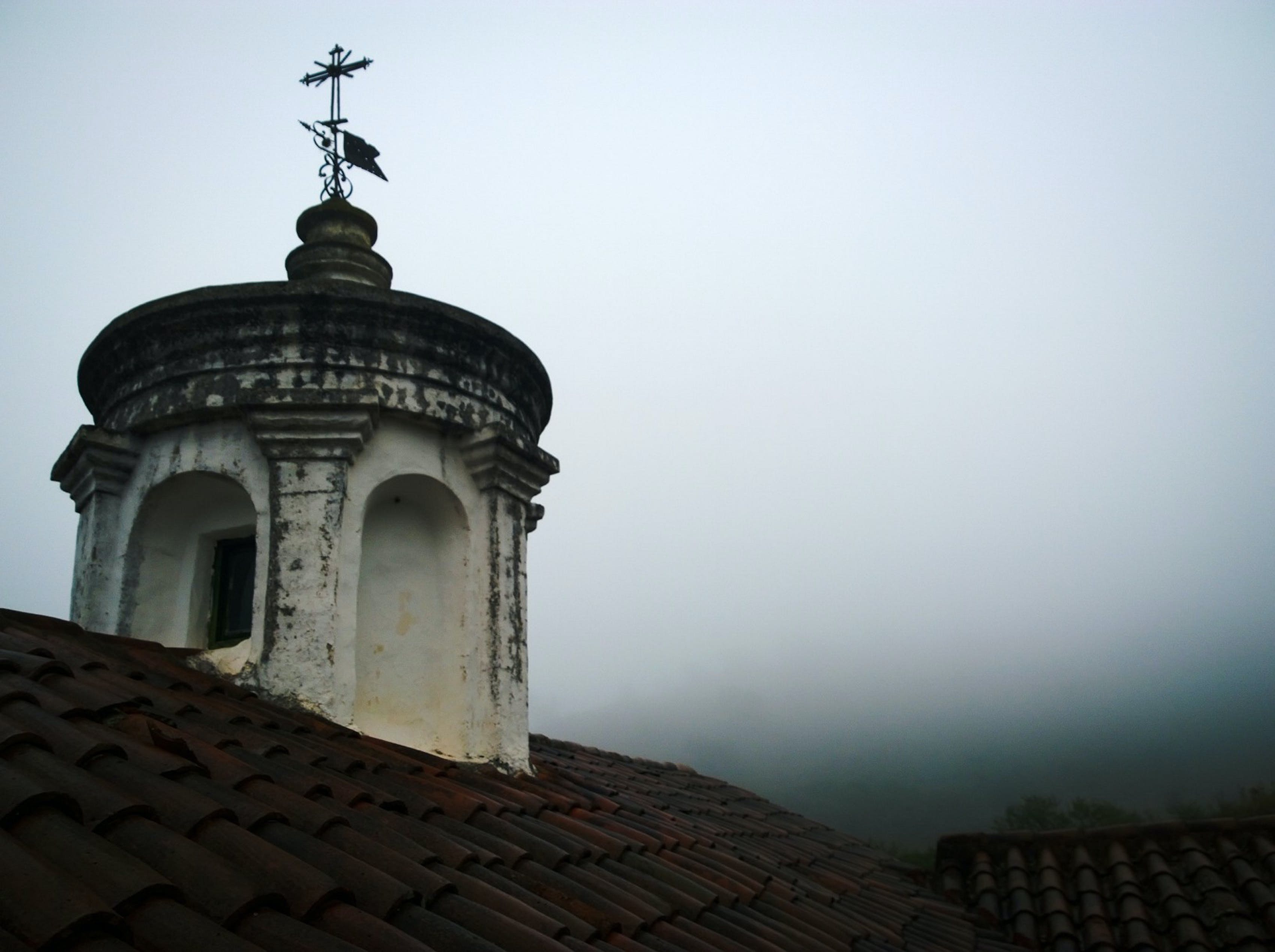 Free stock photo of church, cross, fog, religion