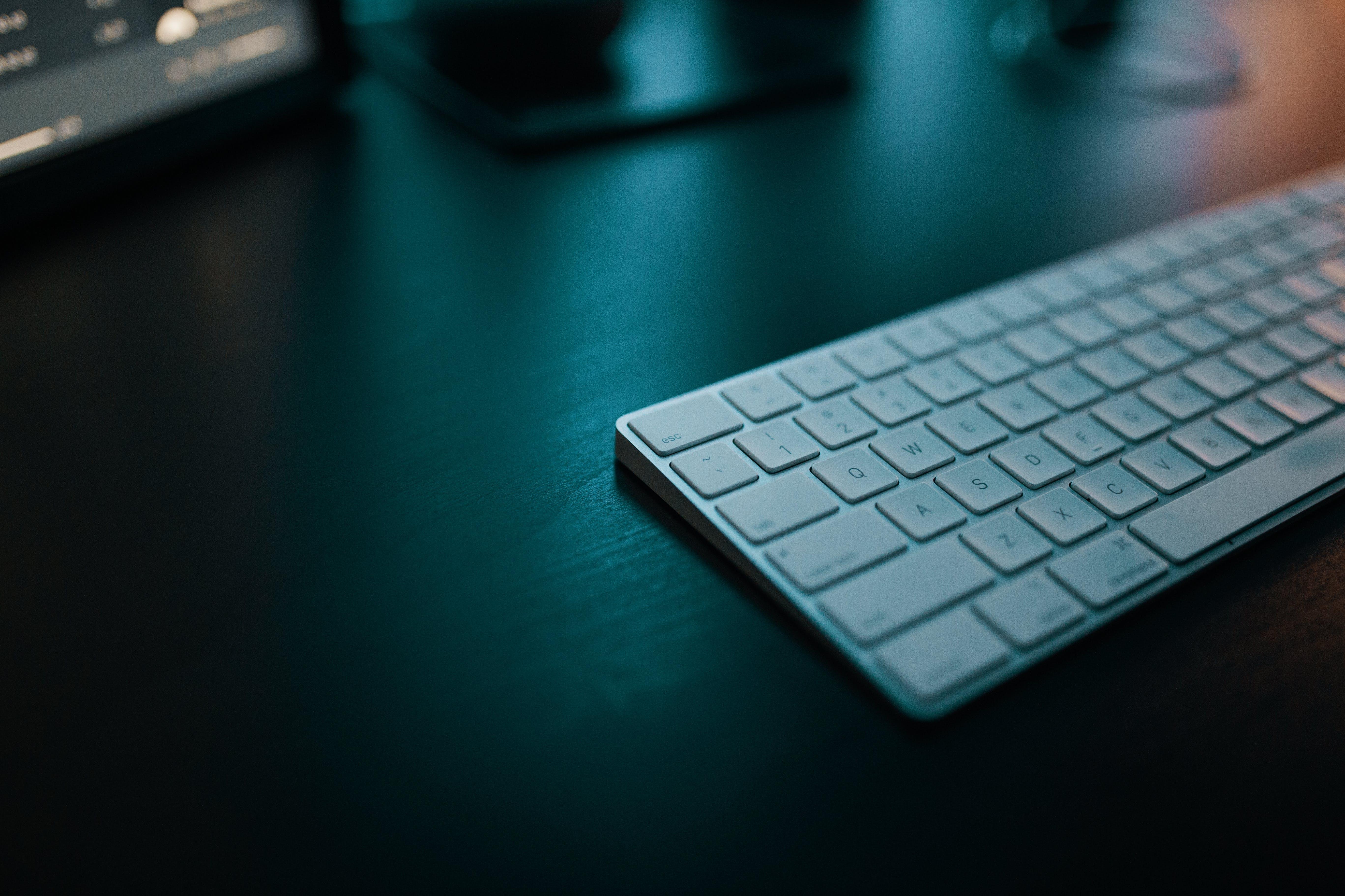 Depth Photography Of Apple Magic Keyboard