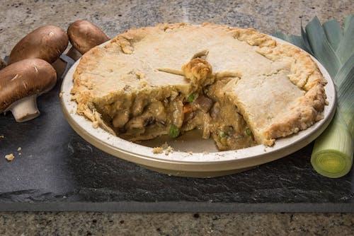 Free stock photo of leek, mushroom, pie