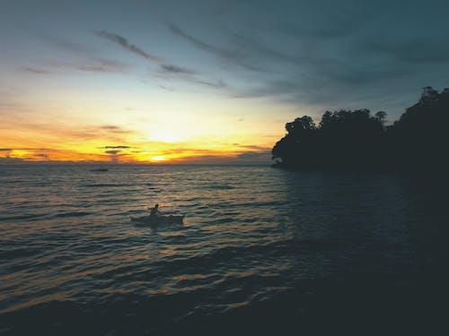 노 젓는 배, 열대의, 필리핀, 해변의 무료 스톡 사진