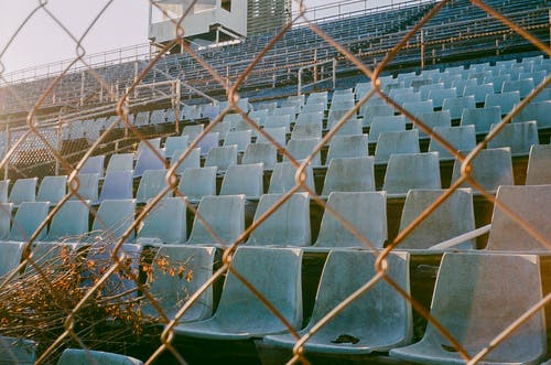 Cyclone Wire And Empty Chairs