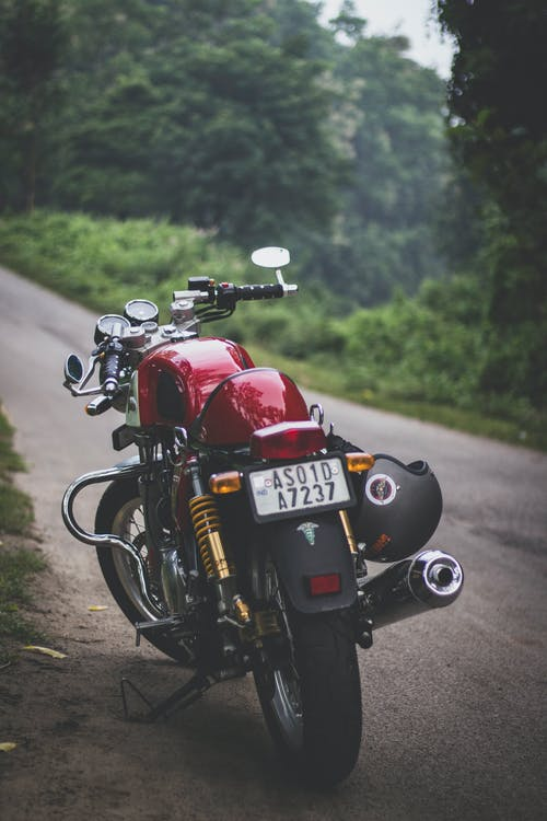 Red Motorcycle Parked