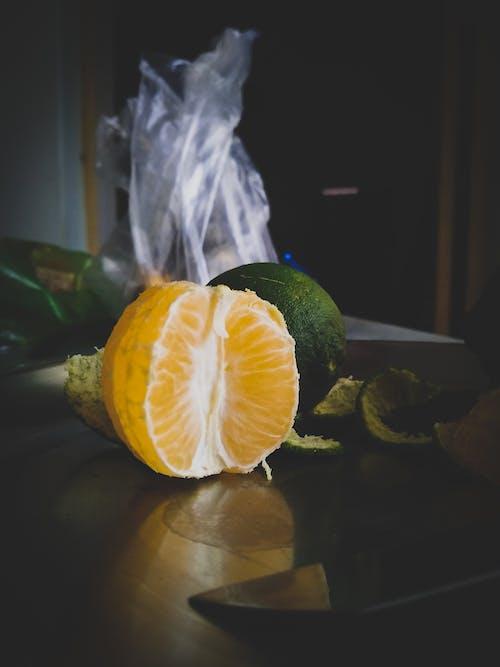 柑橘類水果, 橙子, 水果, 漆黑 的 免费素材照片