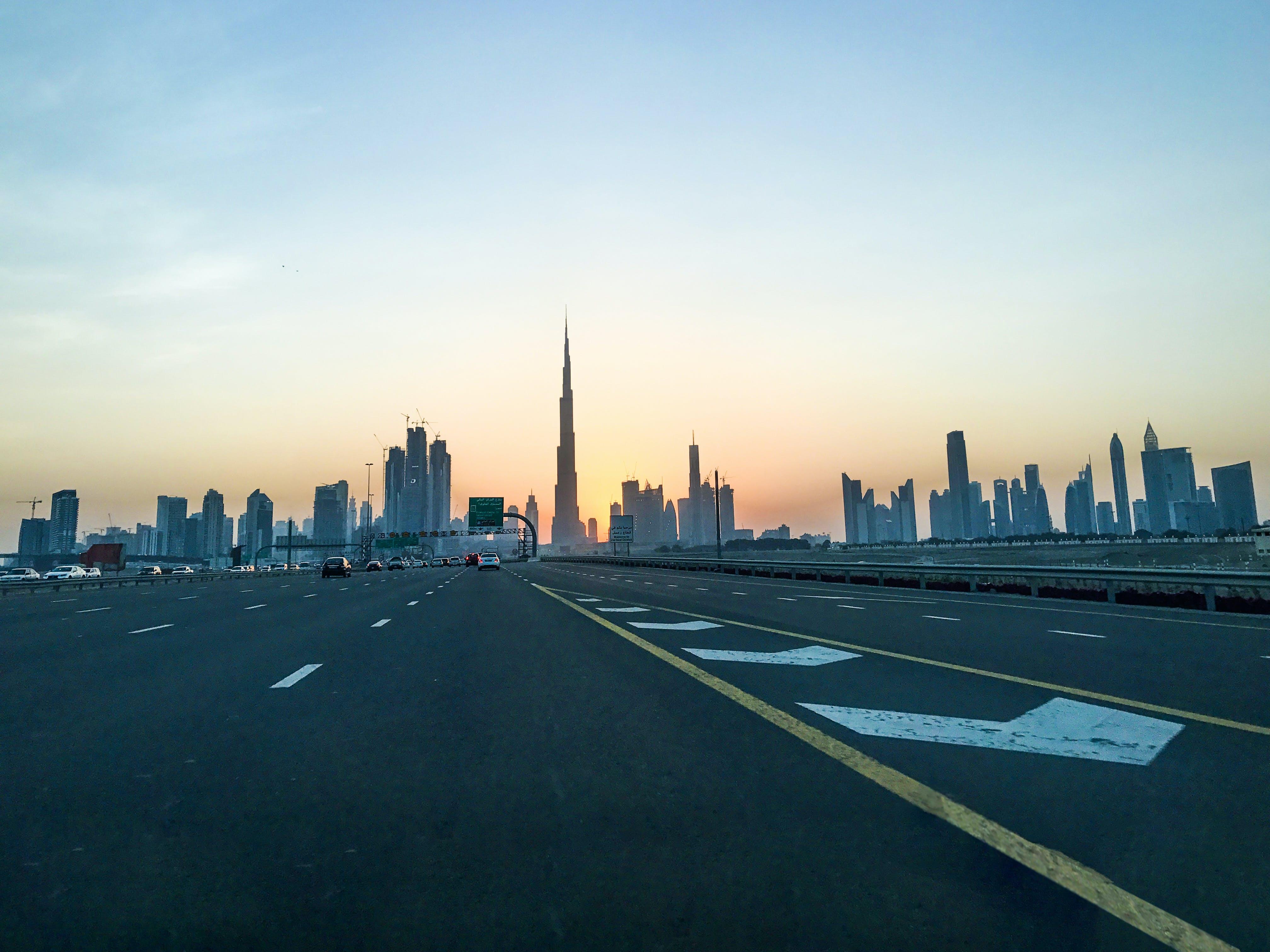 Free stock photo of building, burj khalifa, dubai, roads