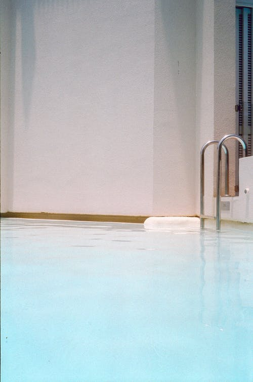 Silver Hand Rail on Pool
