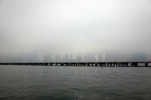 Grayscale Landscape Photography of a Bridge