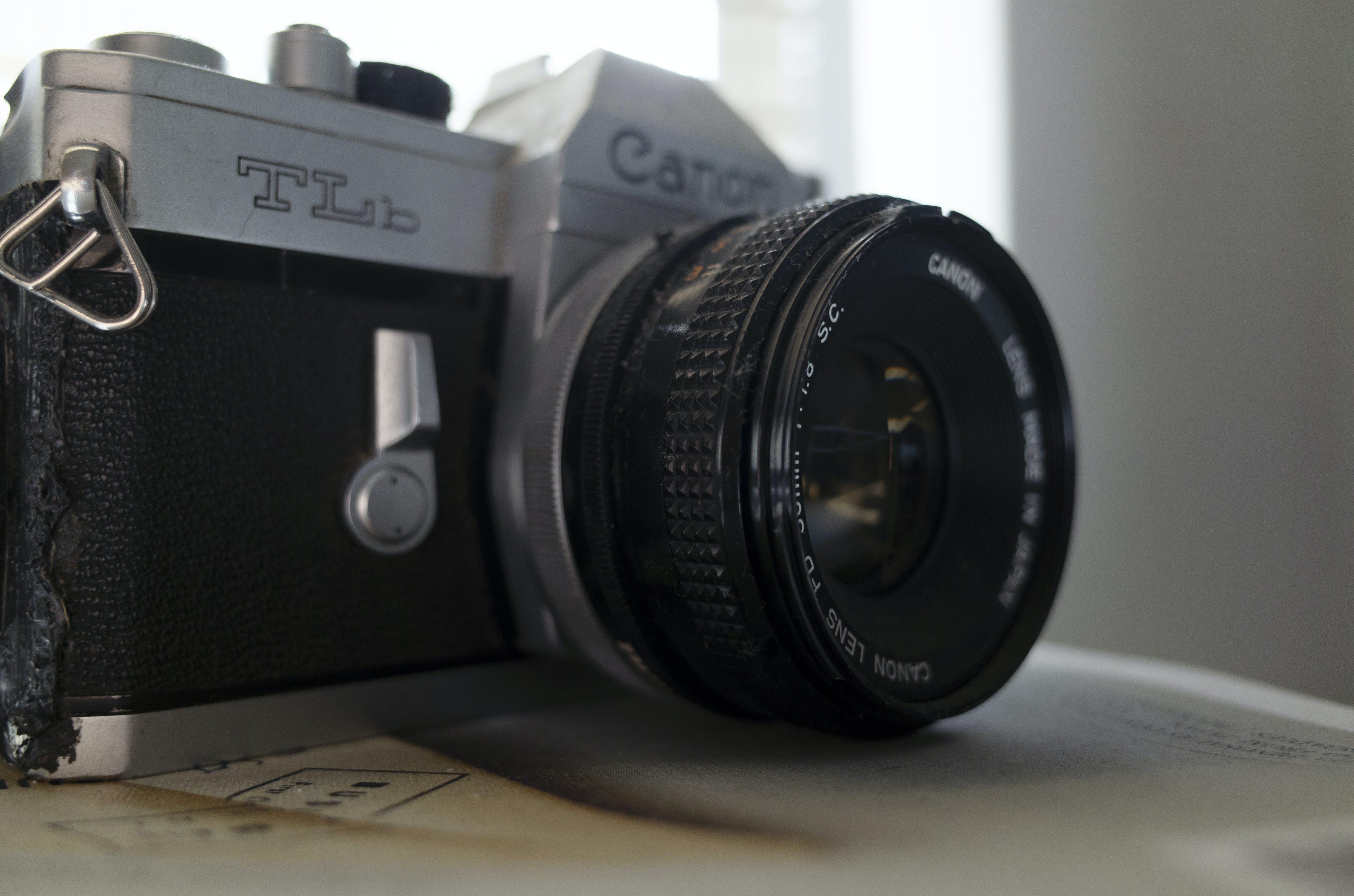 Free stock photo of analog camera, camera, canon, close-up view