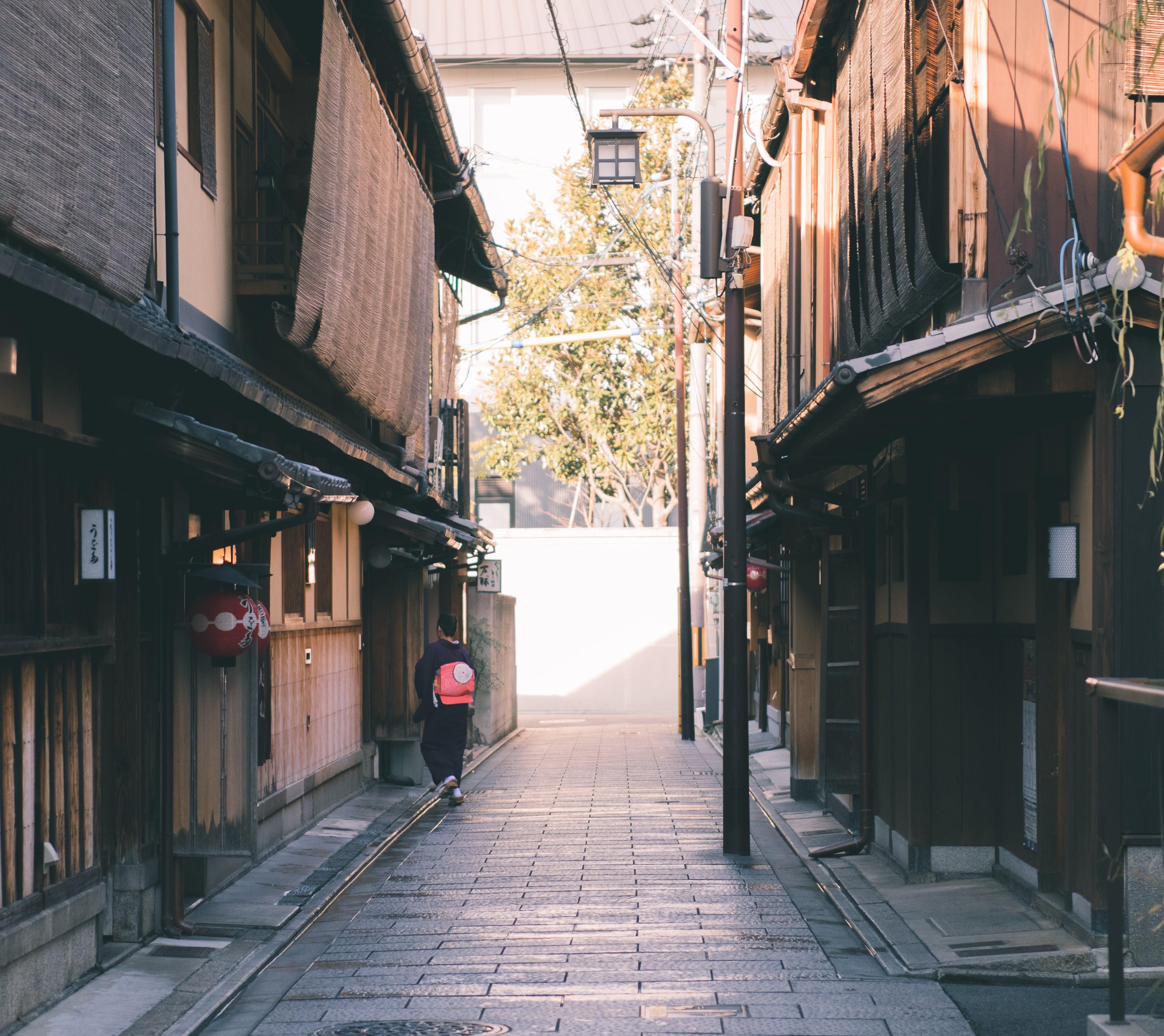 Woman Wearing Kimono Dress
