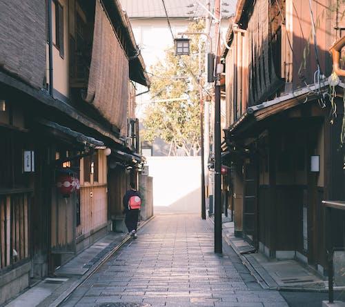 Foto profissional grátis de calçamento, estreito, gião, Japão
