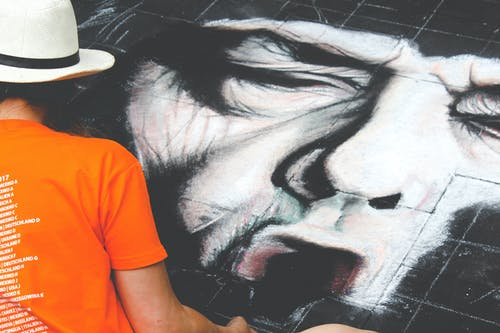 Kostenloses Stock Foto zu aquarellmalerei, betonboden, bund, farben