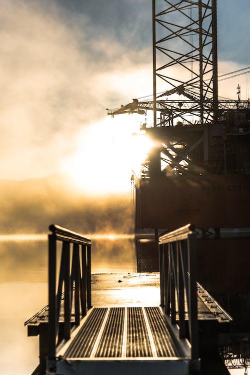 Photos gratuites de bâtiment industriel, brouillard, brumeux, industrie