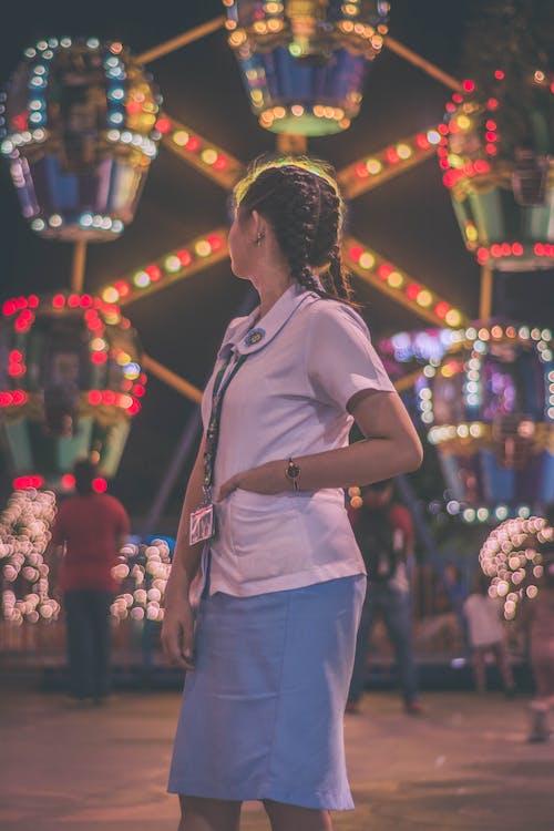 공원, 관람차, 군중, 레크리에이션의 무료 스톡 사진