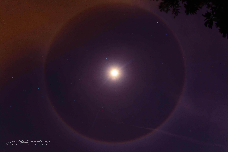 Foto d'estoc gratuïta de halo, lluna plena