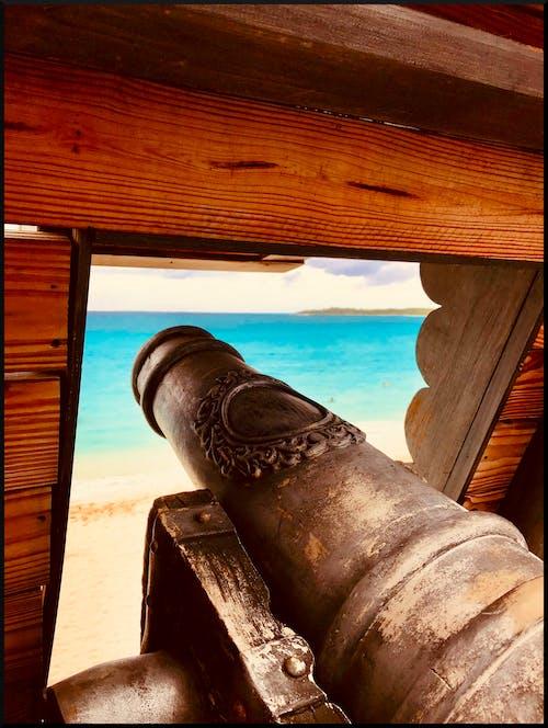 Gratis stockfoto met hout, kanon, oceaan