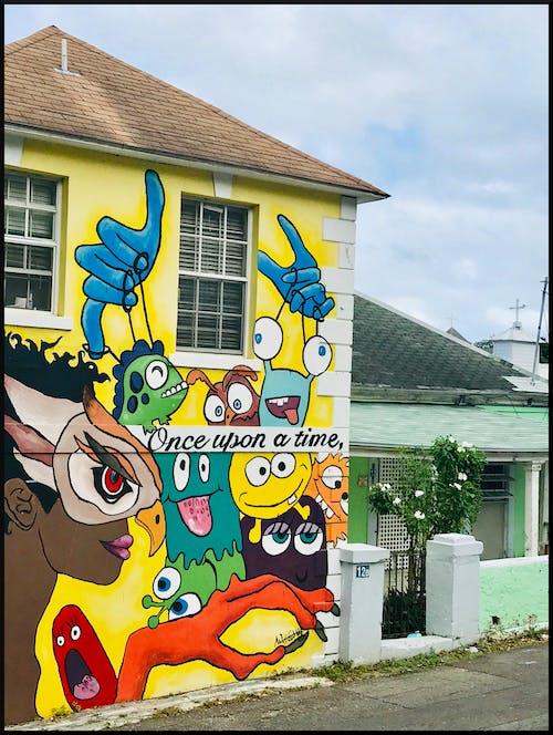 Gratis stockfoto met gebouw, graffiti, muurschildering, schilderij