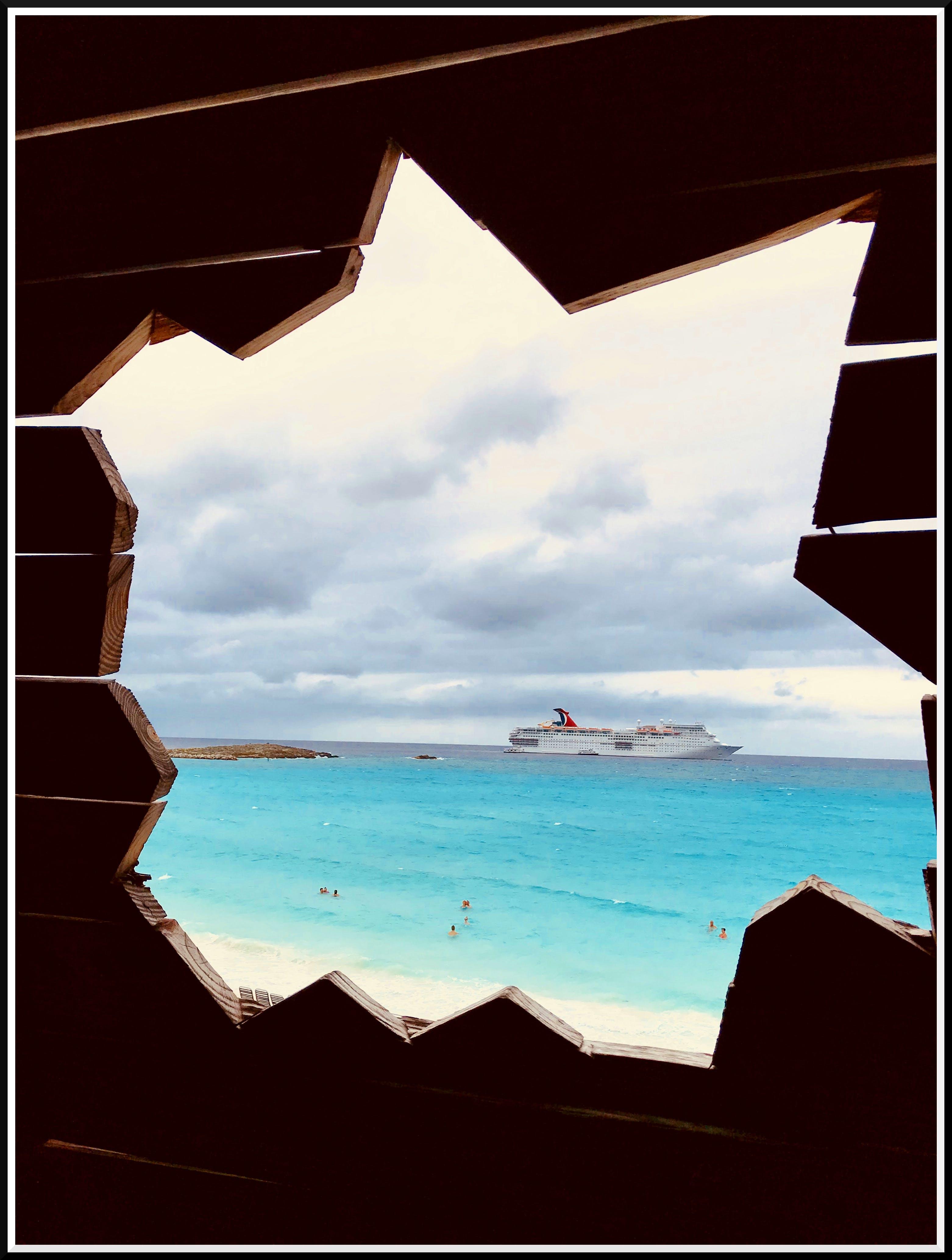 Free stock photo of cruise ship, frames, ocean