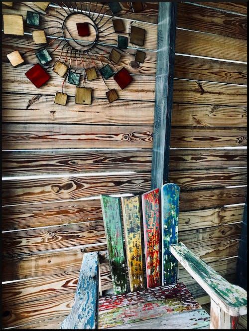 Gratis stockfoto met hout, muur, stoel, structuur