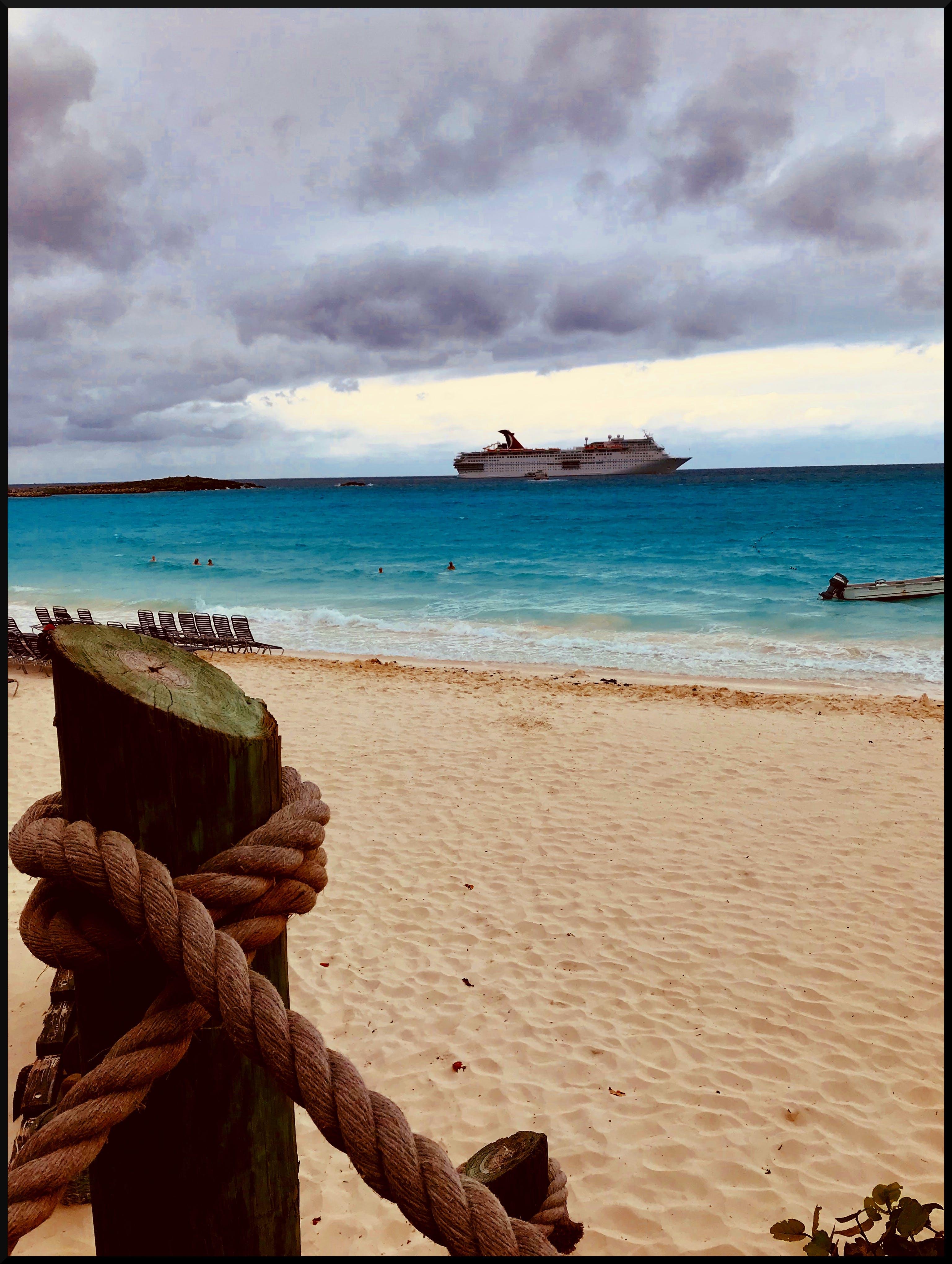 Free stock photo of beach, Carnival Cruise, cruise ship, Half Moon Cay