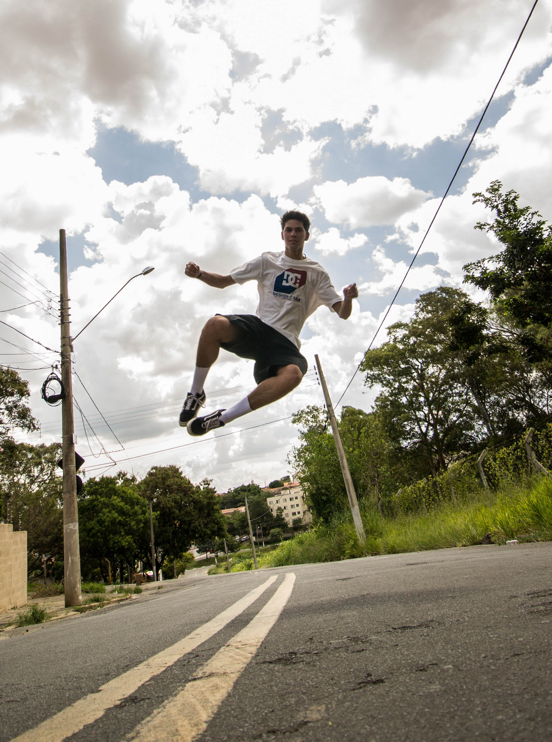 Man Taking Jumpshot Photo
