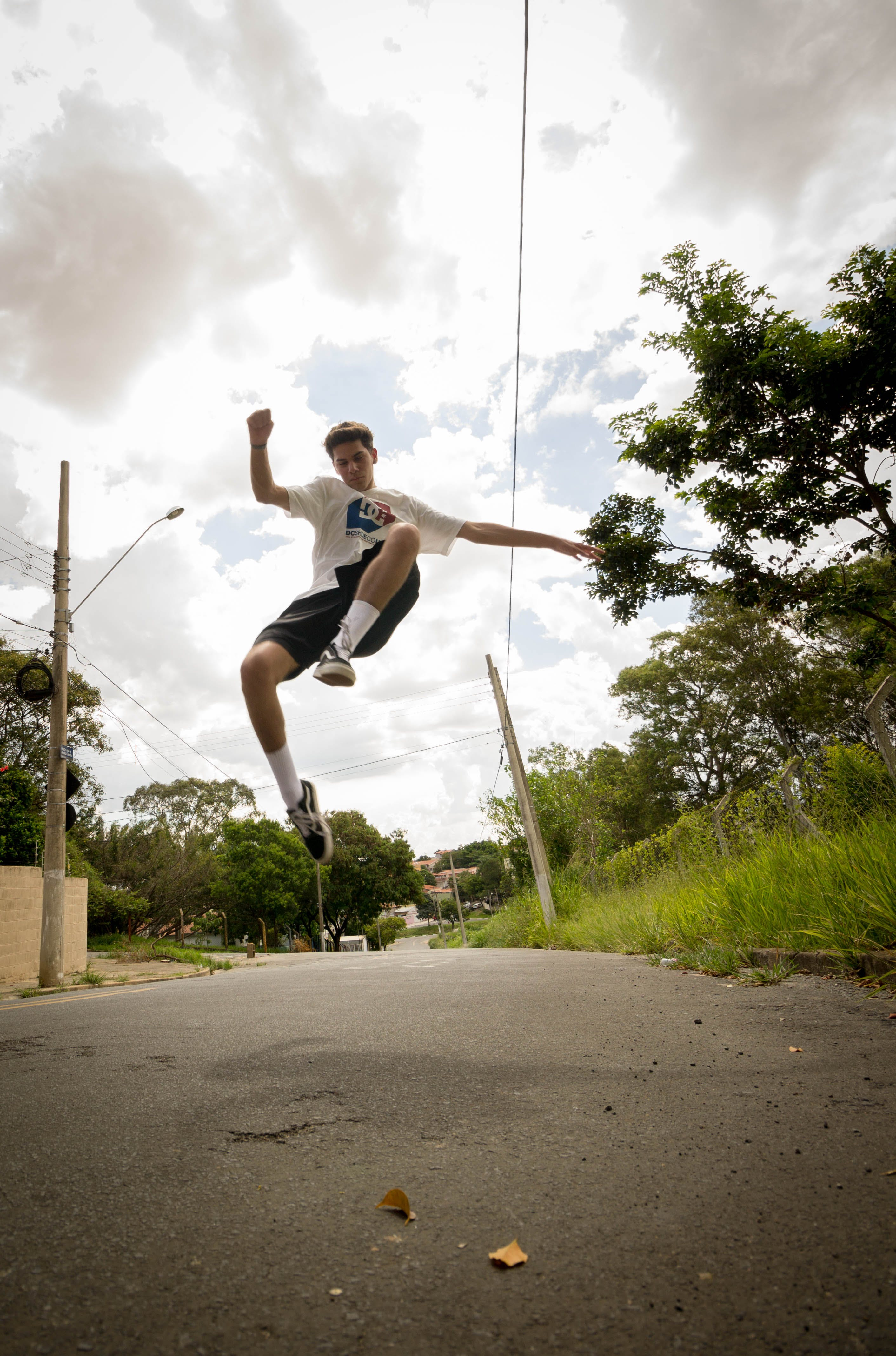 Photo of Man Jumping on the Street