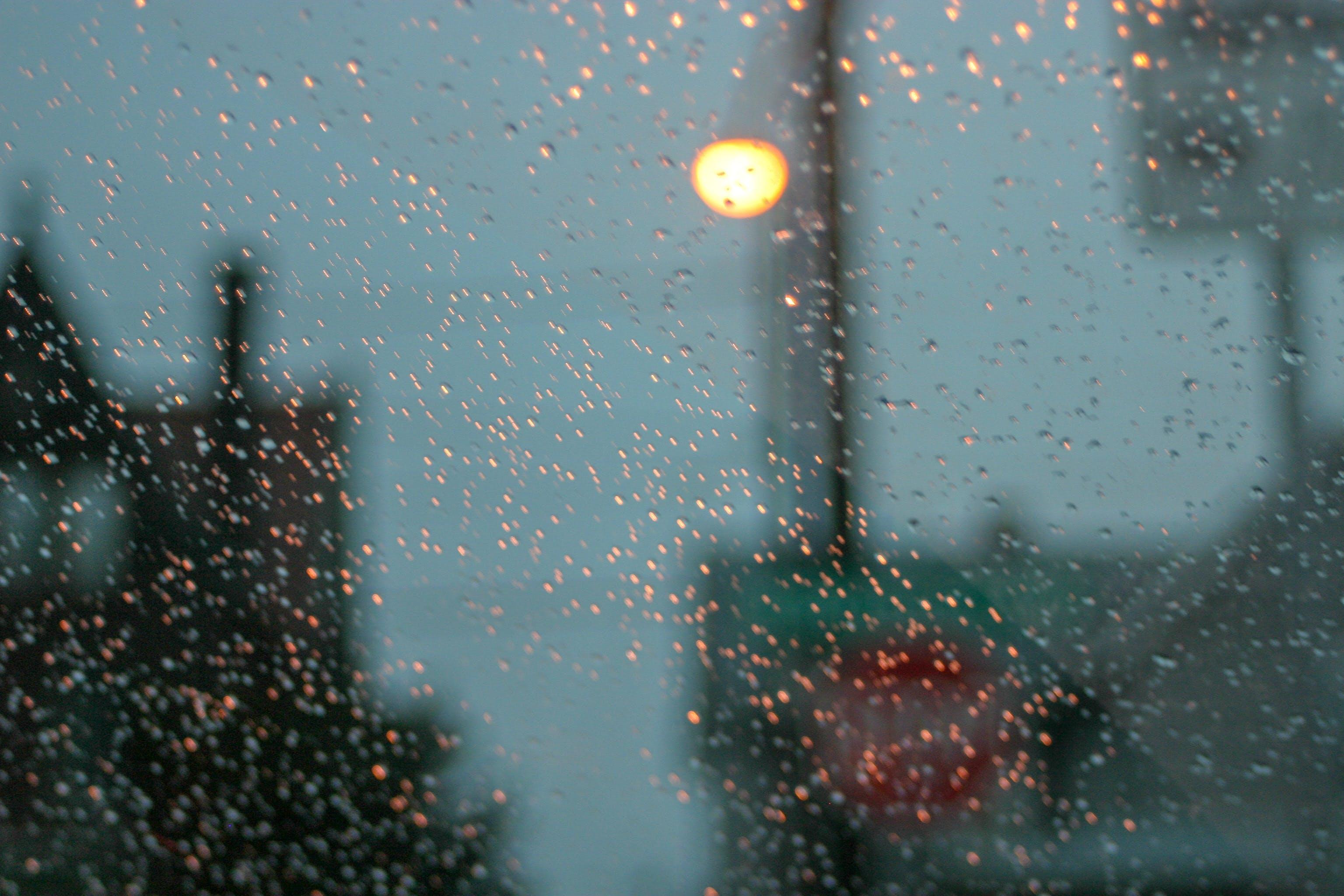Kostenloses Stock Foto zu abstarkt, beleuchtung, nacht, regen