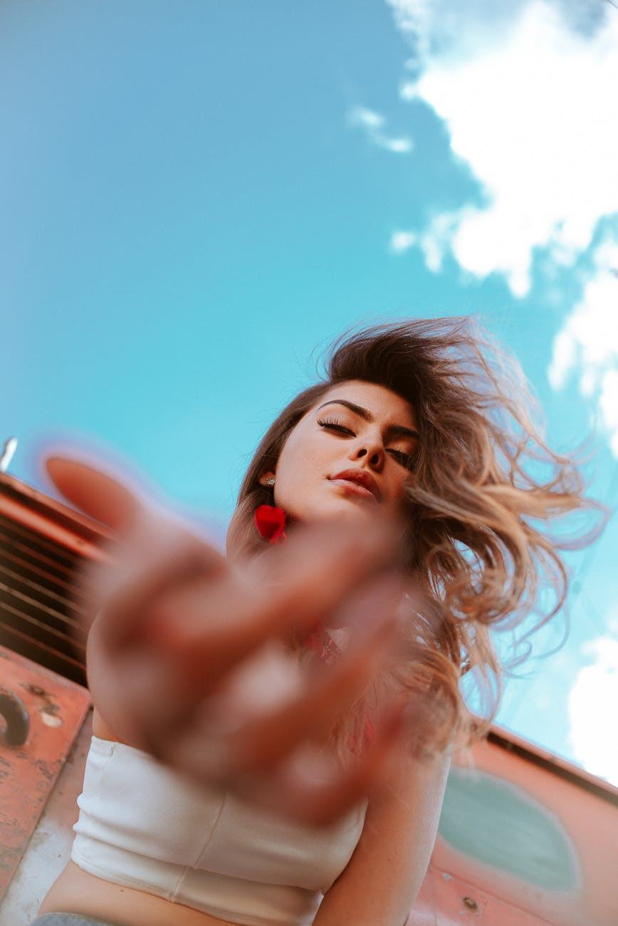 Arty photo of women hairstyle