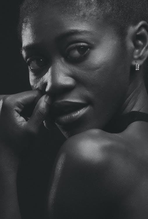 afroamerikansk kvinde, ansigtsudtryk, atlet