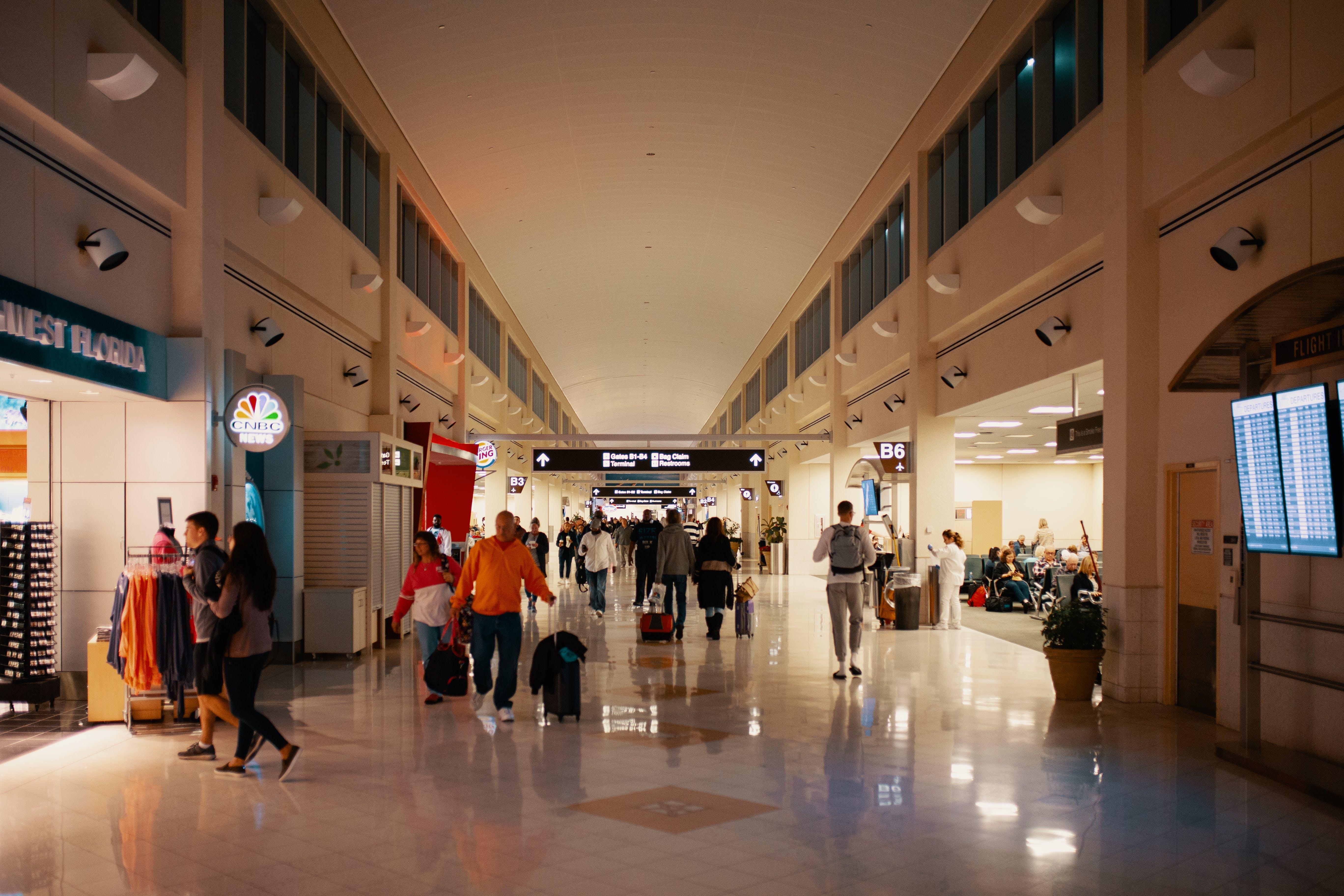 室內, 門廳, 飛機場 的 免费素材照片