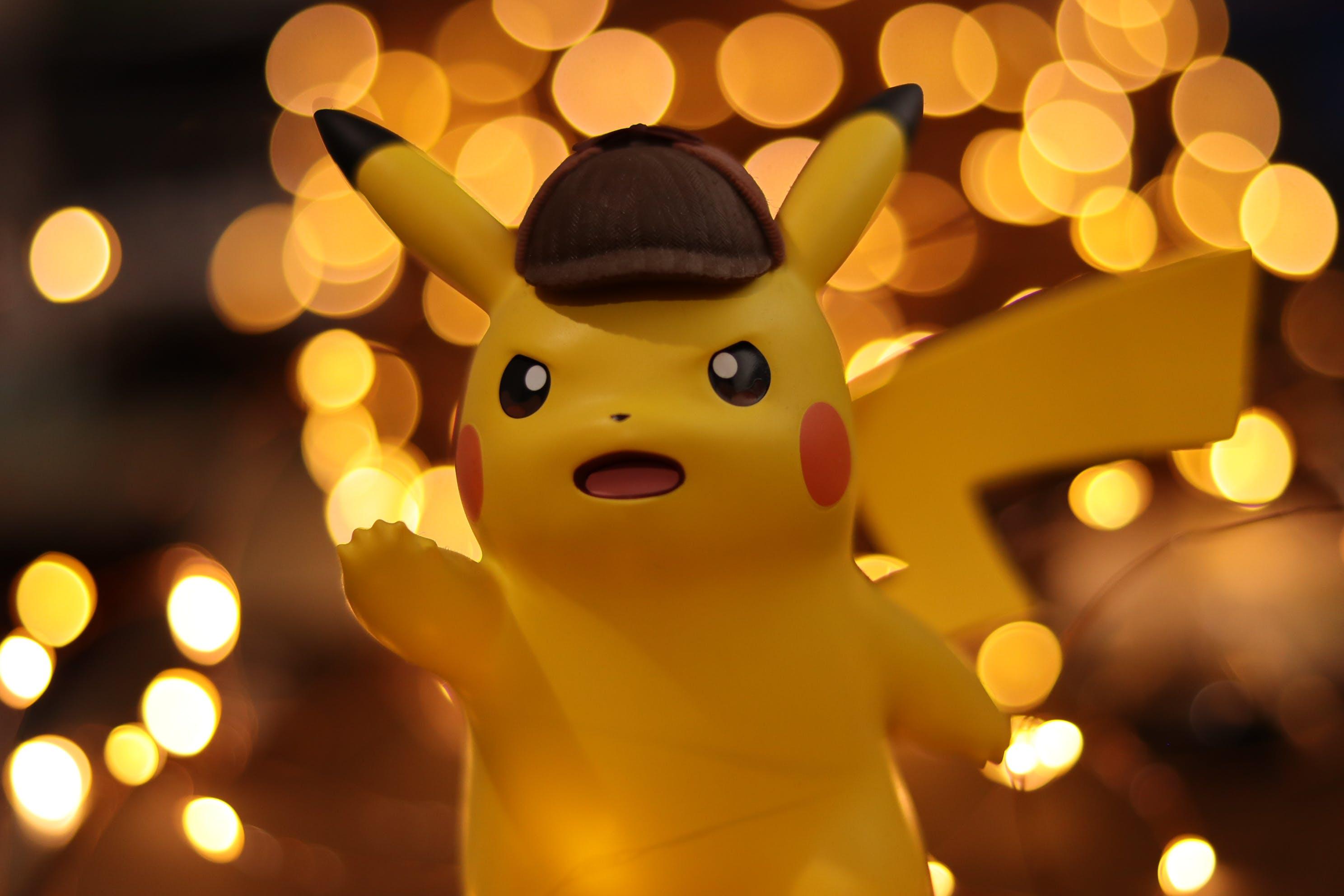 Close-up Photo of Pokemon Pikachu Figurine