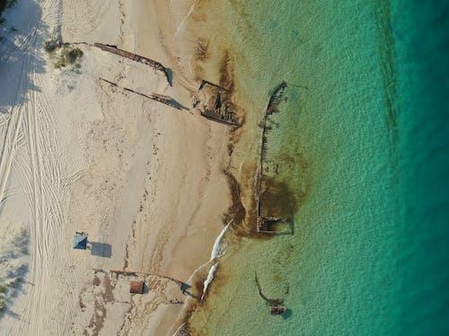 Gratis lagerfoto af #moretonisland #drone #queensland #shipwreck