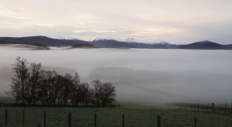 Darmowe zdjęcie z galerii z góra, malowniczy, mglisty, mgła
