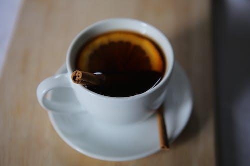 Gratis arkivbilde med kaffe, kanel, kanelstang, te