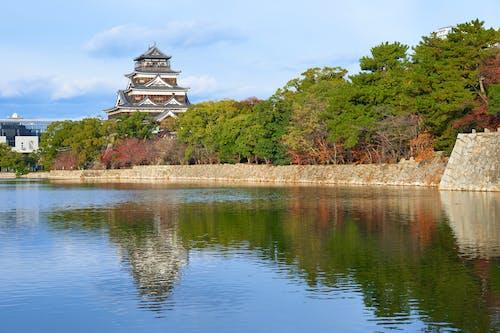 Fotos de stock gratuitas de castillo, hiroshima, Japón, reflejos