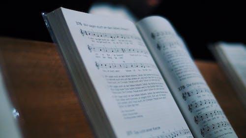 Základová fotografie zdarma na téma hudební kniha, hudební notace, strana