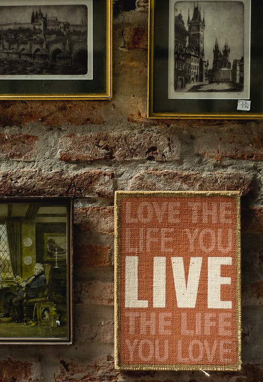 Orange and White Quoted Wall Decor