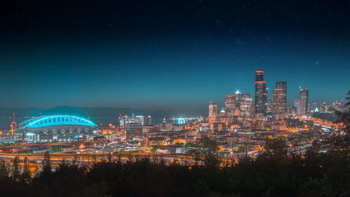 Landscape Photography of a City in Nighttime