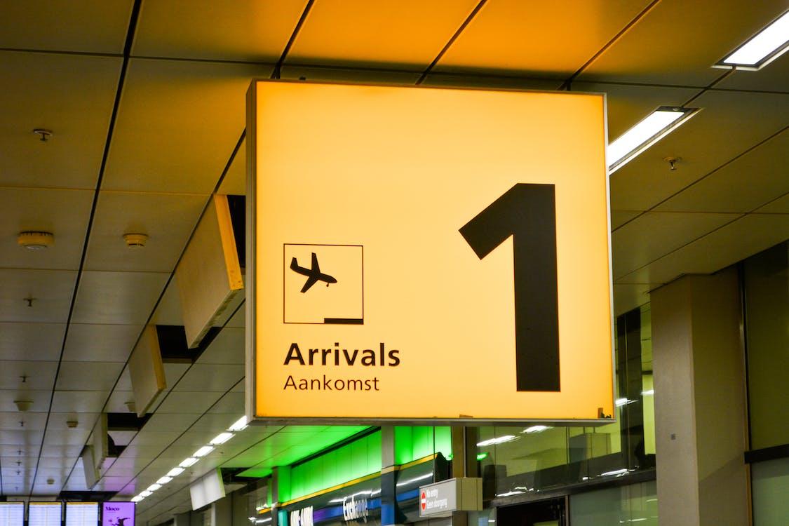 Arrivals Aankomst Terminal 1 Signage