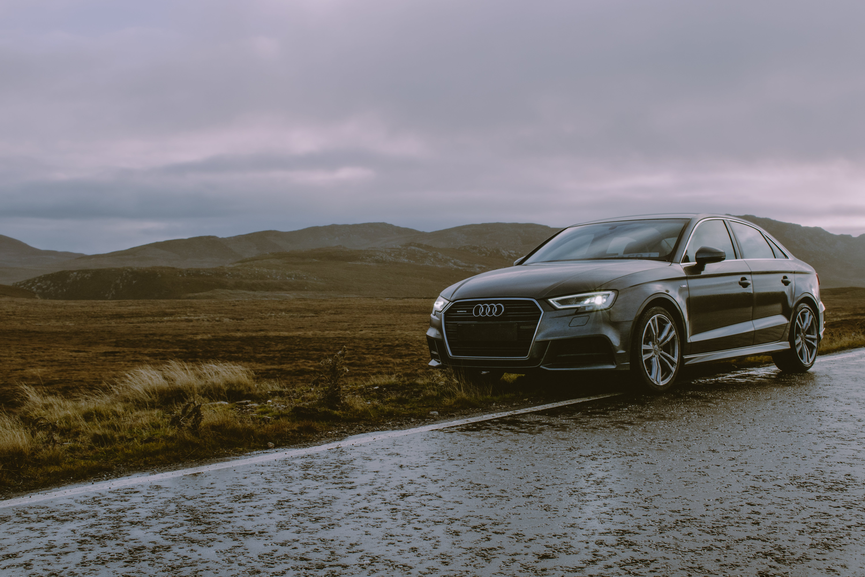 Photo of Black Audi Parked On Roadside