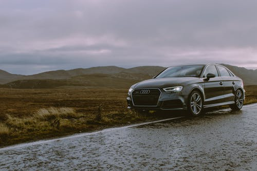 Photo of Black Audi Parked On Roadside
